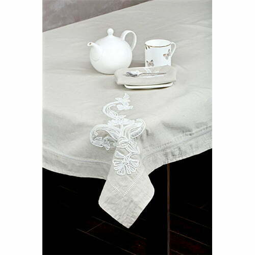 Bloom table cloth perenne design for 10 seater table cloth