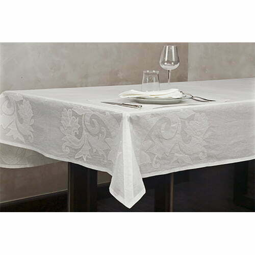 Serenity table cloth perenne design for 10 seater table cloth